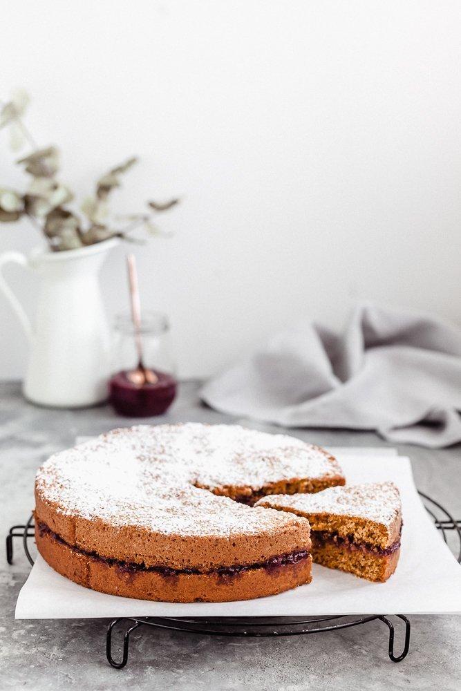 torta di grano saraceno ai mirtilli rossi-1