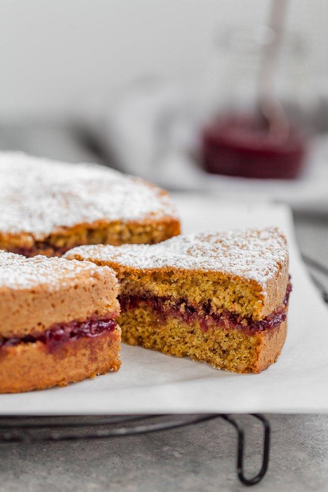 torta di grano saraceno ai mirtilli rossi-2