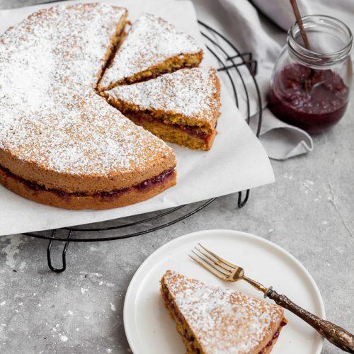 torta di grano saraceno ai mirtilli rossi-4