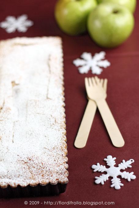 crostata di mele e lime