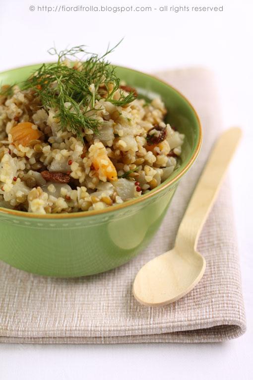 insalata mediorientale di bulghur e quinoa