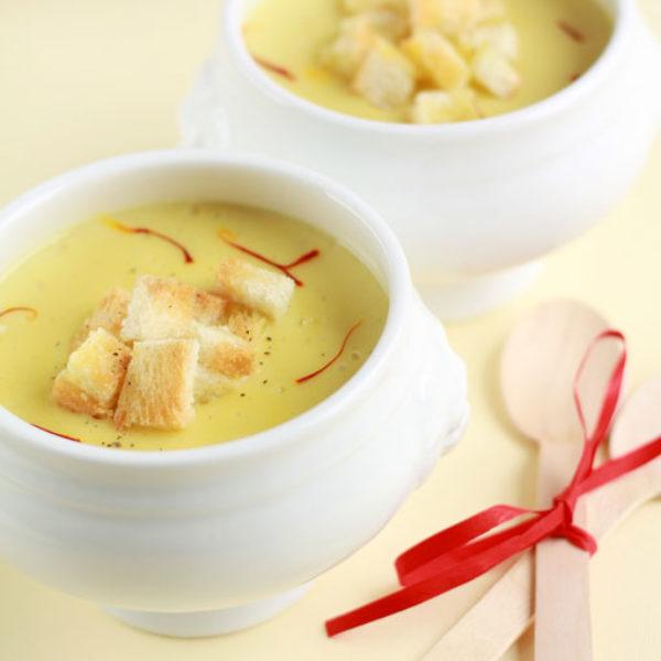 Crema di patate allo zafferano & tartufo