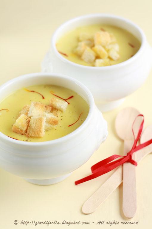 Crema di patate allo zafferano e tartufo