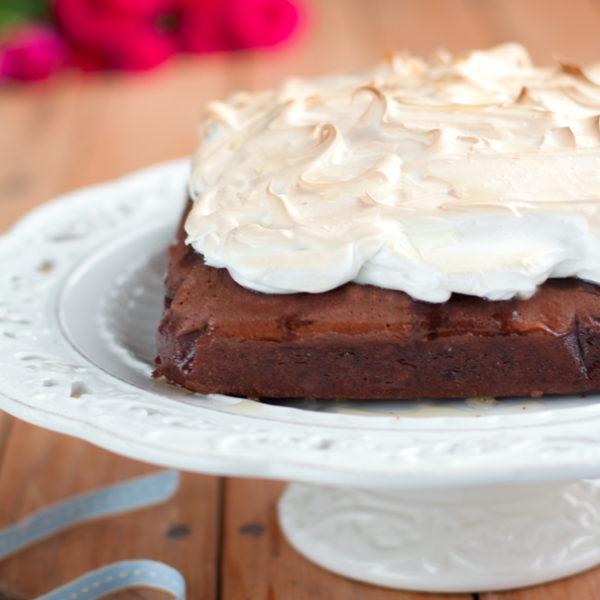 Brownies alla vernaccia di Oristano e meringa per i cinque anni di Fiordifrolla