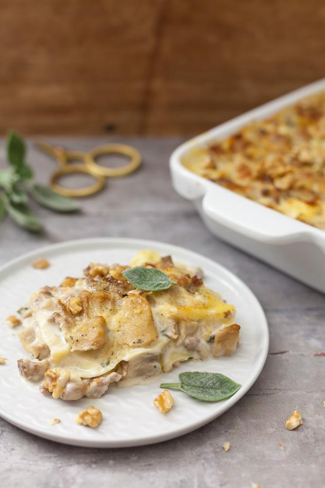 Lasagne ai funghi porcini, salsiccia e noci 3