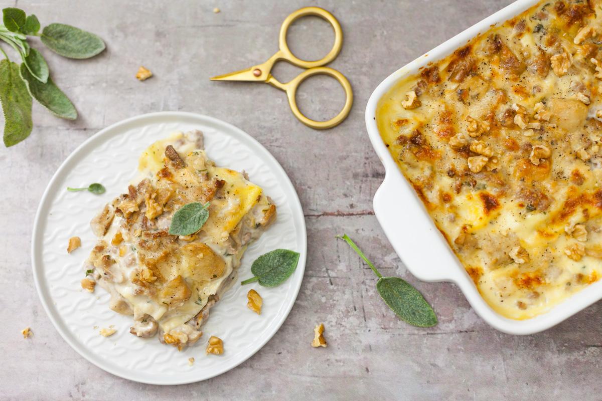 Lasagne ai funghi porcini, salsiccia e noci 1