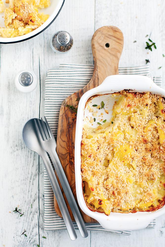 crumble salato di patate e sedano rapa-1