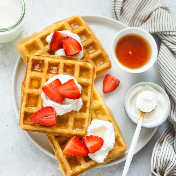 waffle alle fragole e yogurt greco-2