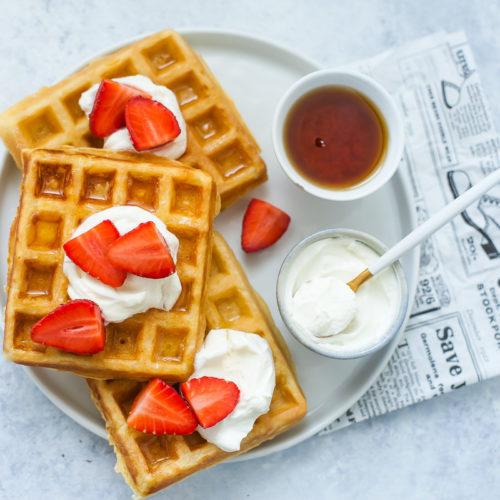waffle alle fragole e yogurt greco-3