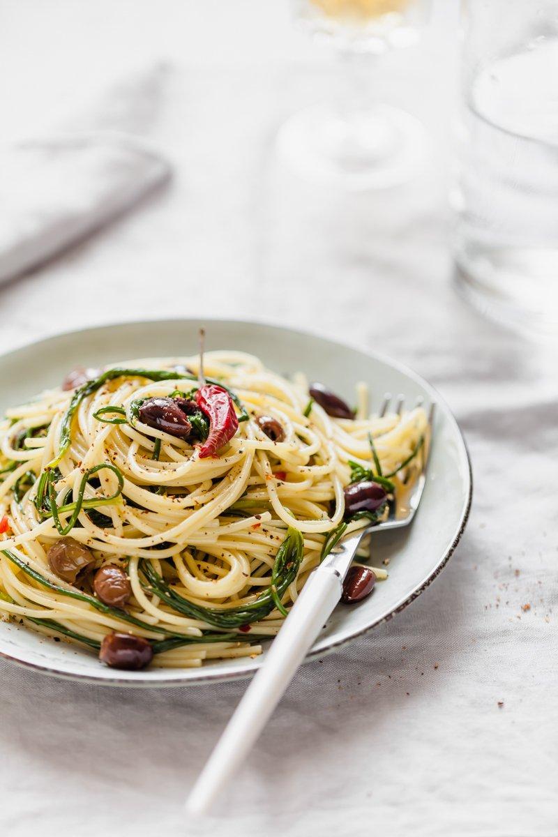 spaghetti con agretti-3