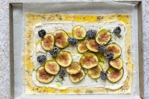 torta salata con prosciutto e fichi step-3