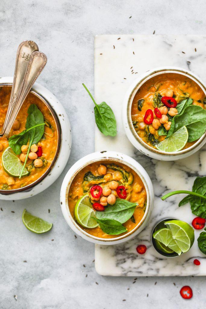 curry di ceci e zucca spinaci-1