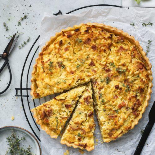 torta salata con porri alta-2
