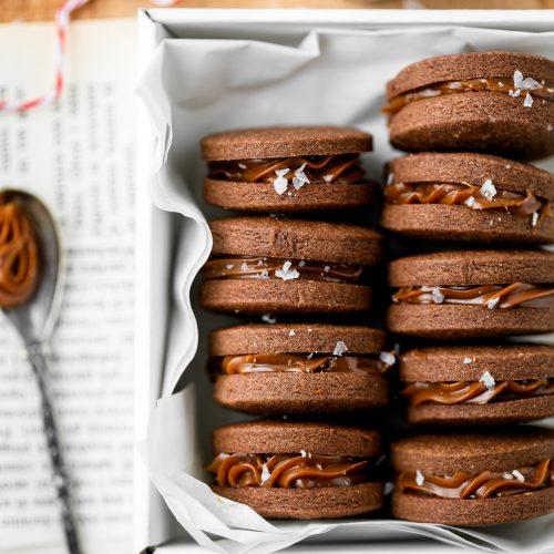 biscotti al cacao e dulce de leche-2